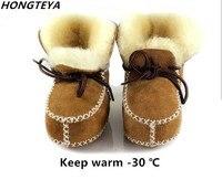 New Arrived Australia Wool Winter Infants Warm Shoes Fur Girls Baby Moccasins Sheepskin Genuine Leather Boy