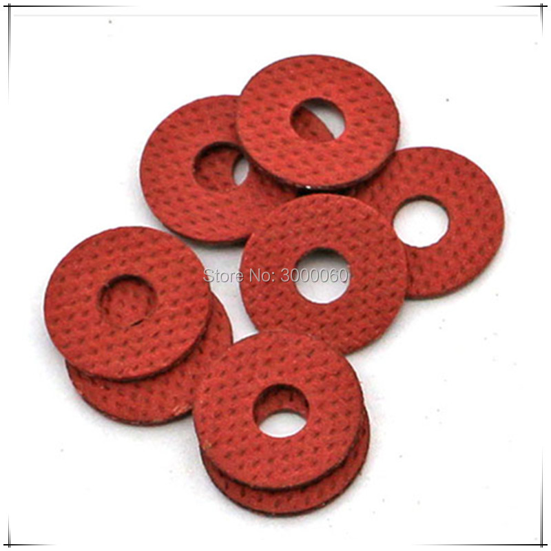 M4*10mm(OD)*0.5mm(Thickness) Red Steel Paper Insulation Spacer Gasket Washer 1000pcs/lot image