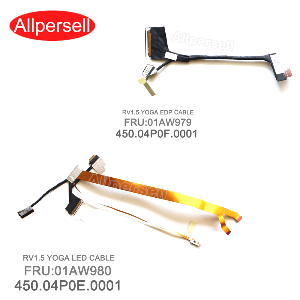 New Lcd Cable For Lenovo Yoga X1 EDP LED CABLE 01AW979 450.04P0F.0001 01AW980 450.04P0E.0001