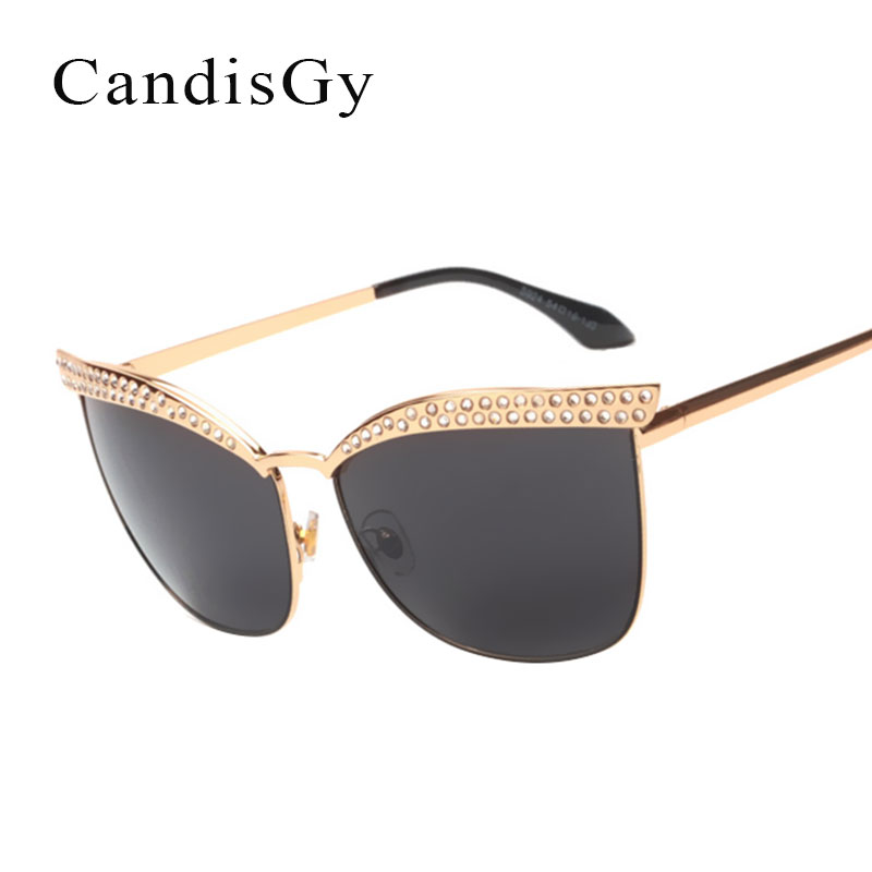 Luxury Men Flat Top Quality Sunglassses Women Cateye Coating Pink Vintage Eyewear Lady Retro Fashion Sun Glasses Oculos ...
