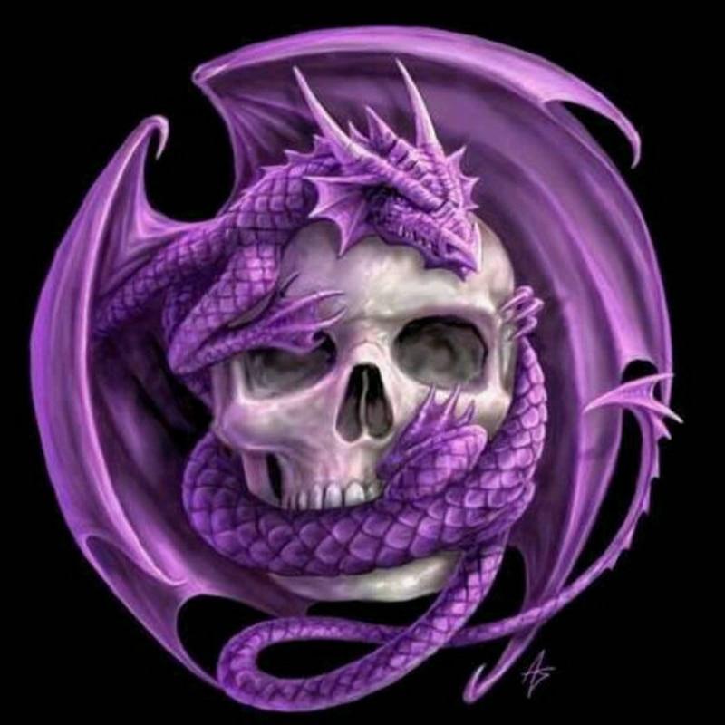 5D Diamond Painting Cross Stitch Halloween Skull Diy Full Diamond Embroidery Needlework Diamond Mosaic Home Decor FG053