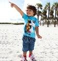 Дети одежда комплект, Одежда для младенцев комплект, Мальчик одежда, Спорт костюм, Дети T - рубашка + джинсы брюки 2 шт. комплект, 18 M - 5 T одежда