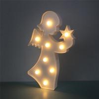 3D Engel Tischleuchte Warmweißen Glanz Led-nachtlicht Kid Weihnachtsgeschenke Schreibtischlampe Nachttischlampe Lampen Party Wohnkultur nachthimmel