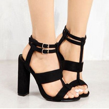 Ladies Explosions Suede Sandals