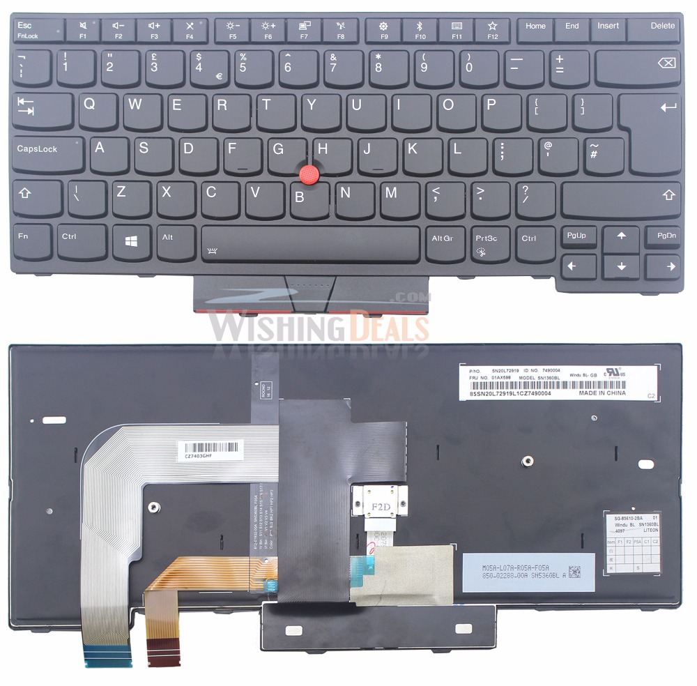 Online Shop New For Lenovo Ibm Thinkpad 01ax516 01ax557 Uk Layout Keyboard Asus X540 X544 X540l X540la X540lj X540s X540sa X540sc Series Backlit Aliexpress Mobile