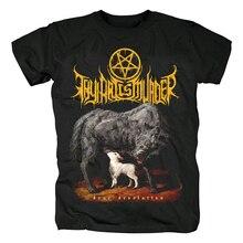 Bloodhoof Thy Art to morderstwo Deathcore czarny krótki rękaw męska bawełniana koszulka rozmiar azjatycki