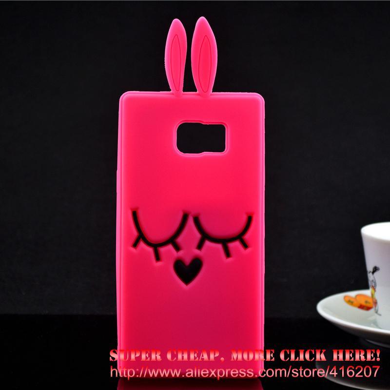 For Samsung Galaxy Note5 N9200 Case Shy Rabbit Silicone