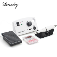Electric Nail Drill Machine 35000 RPM 25W Pro Diamond Black White Nail File Drill Machine Maniure