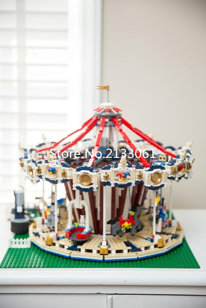 font b Lepin b font 15013 City Sreet Ceator Carousel Model Building Kits Mini Figures