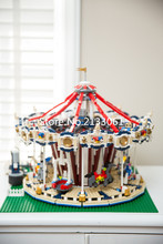Lepin 15013 City Sreet Ceator Carousel Model Building Kits Mini Figures Blocks Toy Compatible 10196 with