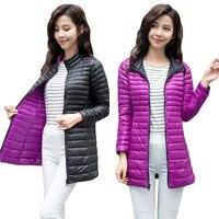 Women's Jackets Ultra Light 90% Down Jacket Women Autumn Winter Coat Jackets For Women leisure slim Fit Two Side female jackets