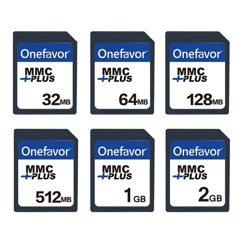 5pcs Onefavor 32MB 64MB 128MB 256 MB 512MB 1GB MMC MultiMedia Card 13PINS  For Old Camera