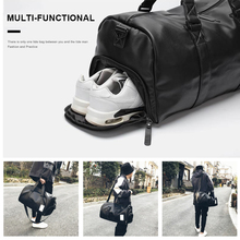 Women Men Leather Travel Bag Waterproof PU Sport Gym Bags For Girls Boy Student Duffle Hand Shoulder Traveling