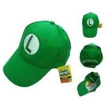 NEW Super Mario Bros Sombrero Luigi Anime Cosplay Niños Adout L Cap HSS