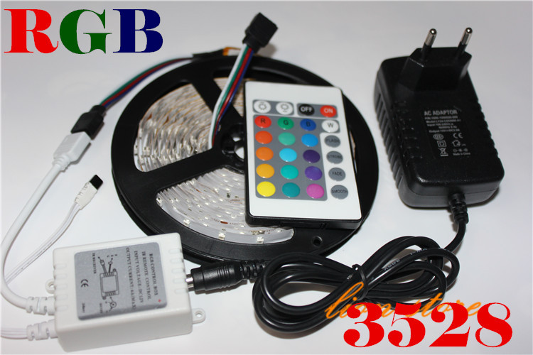 Led Strip 2835/3528 Dc12v 5m 300led Flexible Ribbon Rgb rgb Led Controller 24w Power Adapter Waterproof Not Waterproof Ip20 Careful Calculation And Strict Budgeting