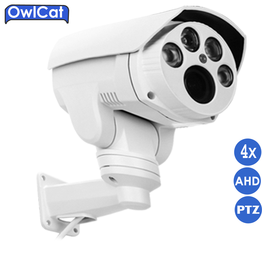 купить OwlCat HD 1080P AHDH Bullet Pan Tilt Zoom AHD Camera Outdoor 2MP 4X 10X Zoom Auto Focus 2.8-12mm 5-50mm IR Security CCTV Camera по цене 6083.86 рублей
