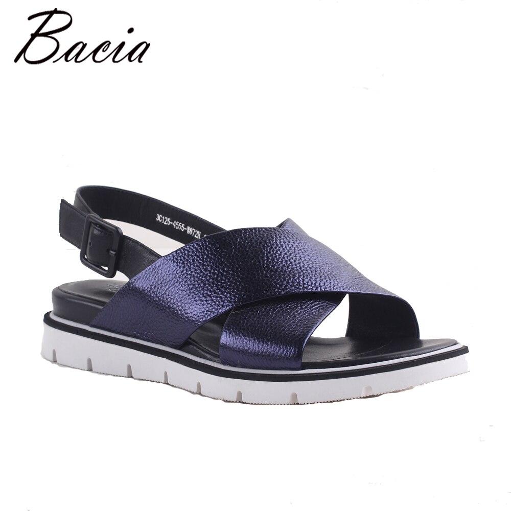 Bacia 2017 NEW Platform shoes flat sandals women Foil leather Fisherman Shoes Soft fashion Quality Handmade sandal SA082 30 degree vinyl cutter plotter blades 4200n mm2 hra93 for pcut pack of 5
