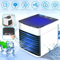 USB Mini Portable Air Conditioner Arctic Air Cooler Humidifier Purifier Cooling Fan Air Cooler Fan for Office Home