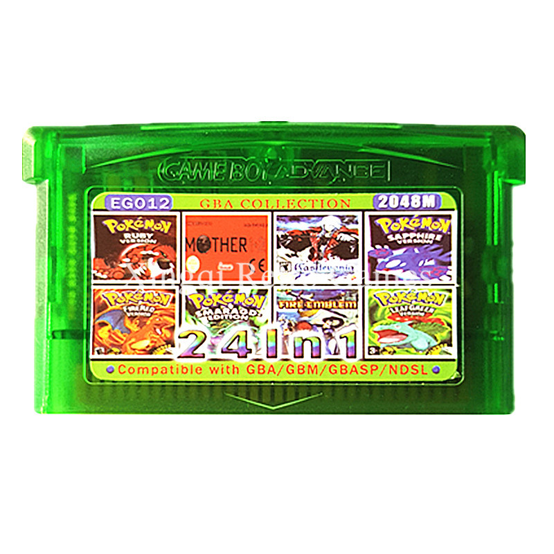 <font><b>Nintendo</b></font> GBA Game EG012 24 in 1 Video Game Cartridge Console Card Compilations Collection English Language