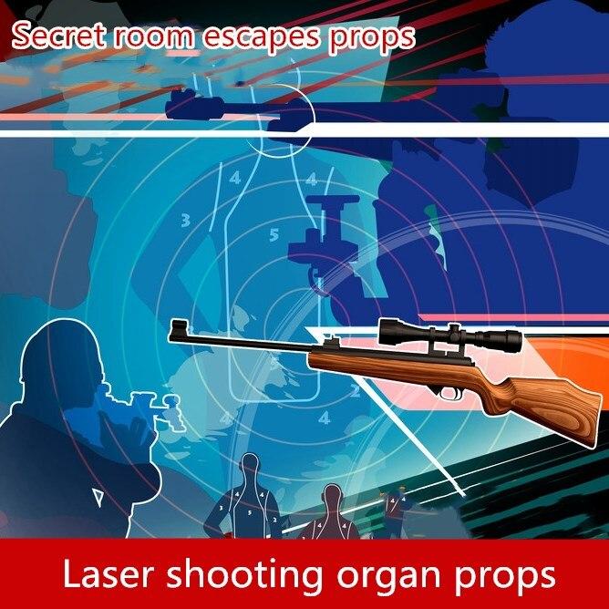 9527 livraison gratuite pièce de la vie réelle échapper jeu accessoires Laser ciblage orgue tir électronique jeu d'horreur échapper jeu de salle