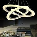 Círculos anel modern led pingente luzes para sala de jantar sala de estar acrílico cerchio anello lampadario da lâmpada de iluminação lâmpadas modernas