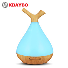 400ml Aroma Ultrasonic air Humidifier Essential Oil diffusers LED 7 colour Light mist maker Aromatherapy purifier plug ejoai cool electric diffusers aroma purifier wood and glass aromatherapy fogger with 7 colors led light ultrasonic humidifier