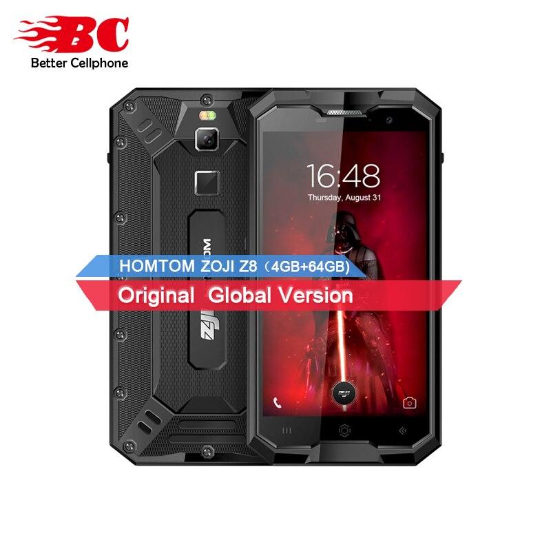 HOMTOM зоджи Z8 смартфон mtk6750 восемь ядер 1,0 ГГц Android7.0 OTG IP68 4 ГБ + 64 ГБ LTE 4250 мАч 16MP + 13MP смартфон Водонепроницаемый оты