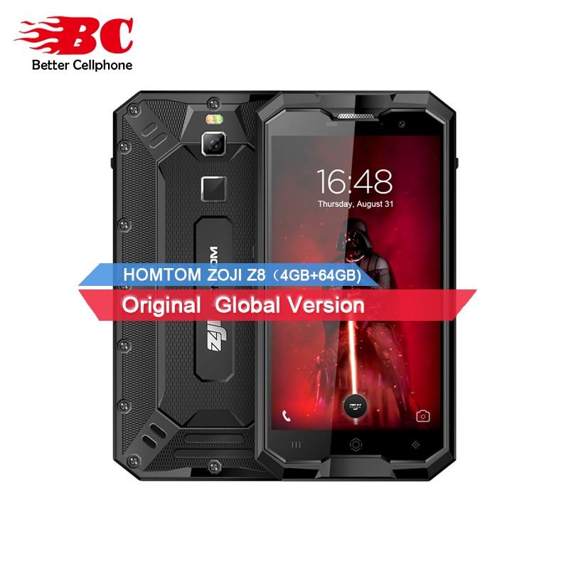 HOMTOM ZOJI Z8 Smartphone MTK6750 Octa Core 1.0 ghz Android7.0 OTG IP68 4 gb + 64 gb LTE 4250 mah 16MP + 13MP Téléphone Intelligent Étanche OTA