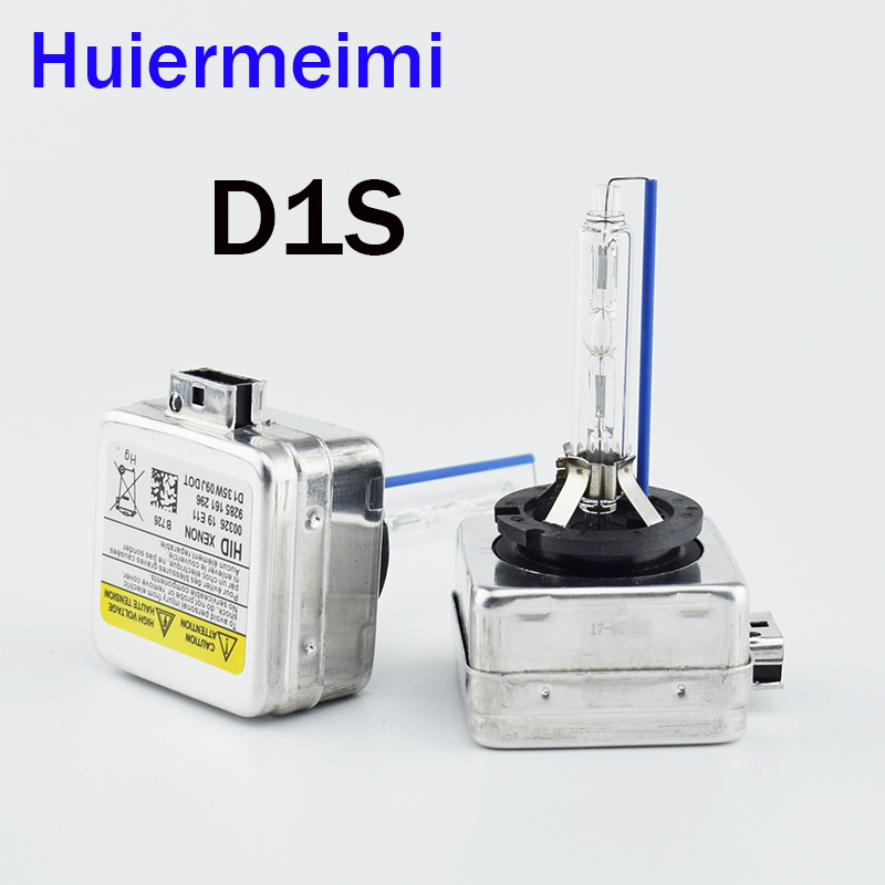 Huiermeimi 2PCS Car HID Xenon Light Bulb 35W 12V D1S D1R D2S D2R D3S D4S D4R Car Headlight Xenon Lamp Bulb Automobile Headlamp
