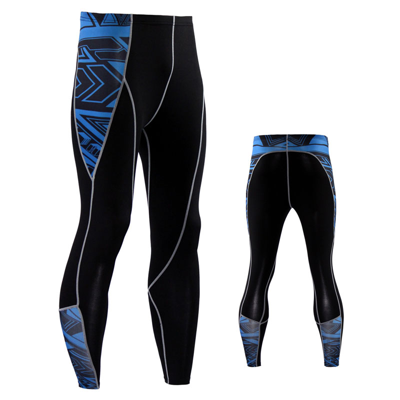 Free Shipping Mens Compression Pants Leggings Coolmax Quick Dry black stretch Tights Full Length Pants
