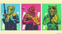 print canvas The most exciting game poster Hotline Miami video games 3 Sizes Silk Fabric Canvas poster Print 34090 JBO