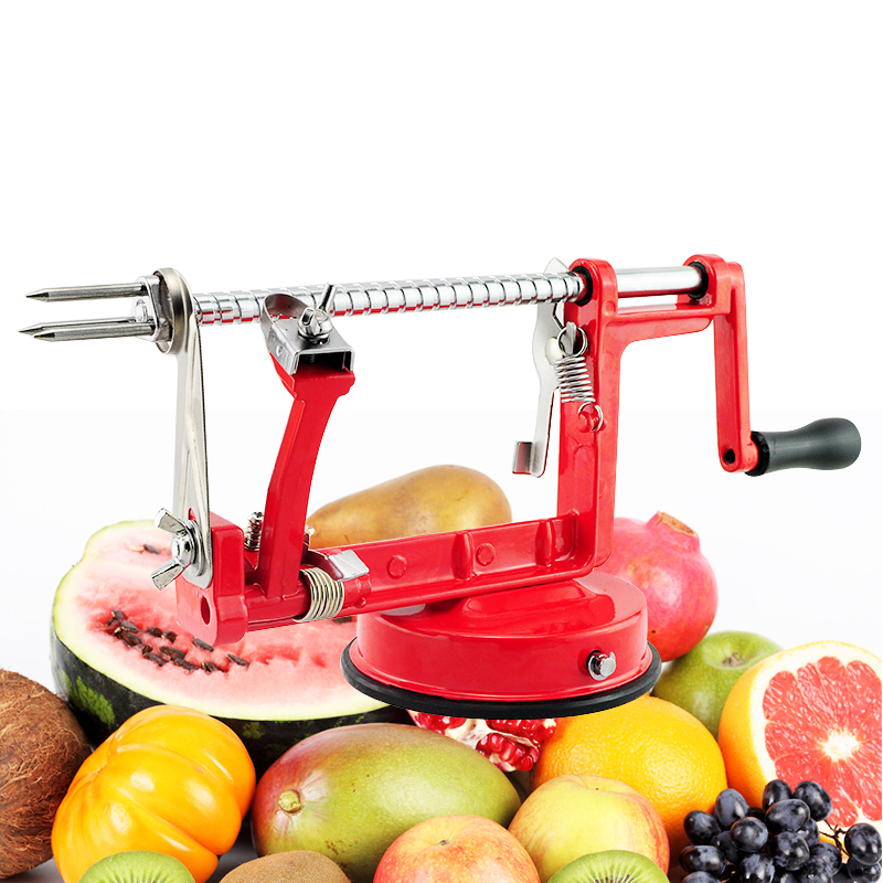 3 in 1 Apple Slinky Machine Peeler Corer Potato Fruit Cutter Slicer Kitchen Tool#* high quality multifunctional kitchen tool daily necessities round shape slicer apple corer fruit cutter