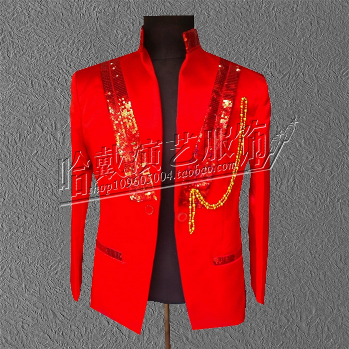 S-5XL!!! 2017 Man the magician costume Bright piece of small suit bar stage singer's clothing The singer's clothing