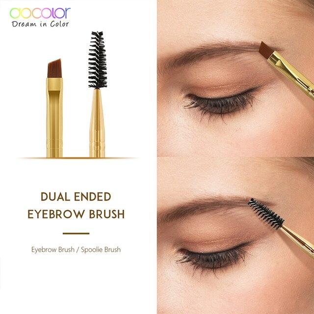 Docolor 5/10pcs White Black Professional Double headed Eyebrow Eyelash Makeup Brushes Thin hair Wholesale Angled Eye brow Brush 5