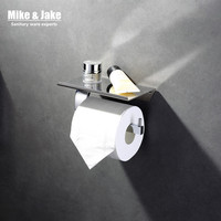 Bathroom chrome brass paper holder with phone shelf bathroom mirror Toilet Paper Holder,Roll Holder,Tissue Holder with plate