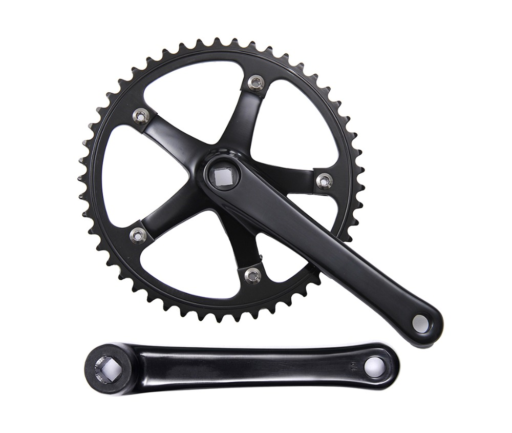 цена на Fixed Gear Bike Crankset Cranks Single Speed bike chainwheel road Bicycle Crankset 46T