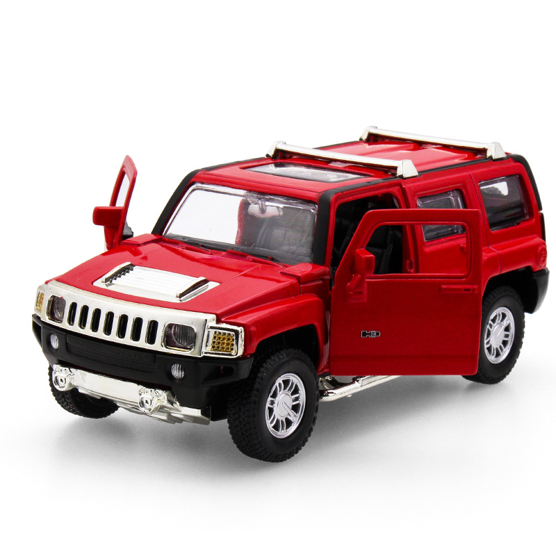 2017 Hot sell 1:32 H3 SUV Jeep Diecast Alloy Metal Luxury Car Model Collection Model Pull Back Toys Car Gift For Boy