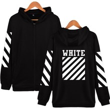 New Fashin OFF WHITE Basic Striped Cardigan Hoodies Sweatshirts Men Women Hip Hop Tracksuit Sweatshirts Outwear Jacket