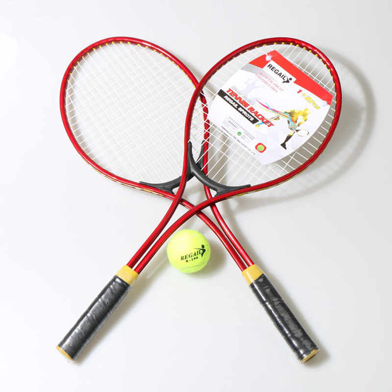 2pcs/set 24 inch Teenager's Tennis Racket Children Tennis Training Exercises with Tennis Ball