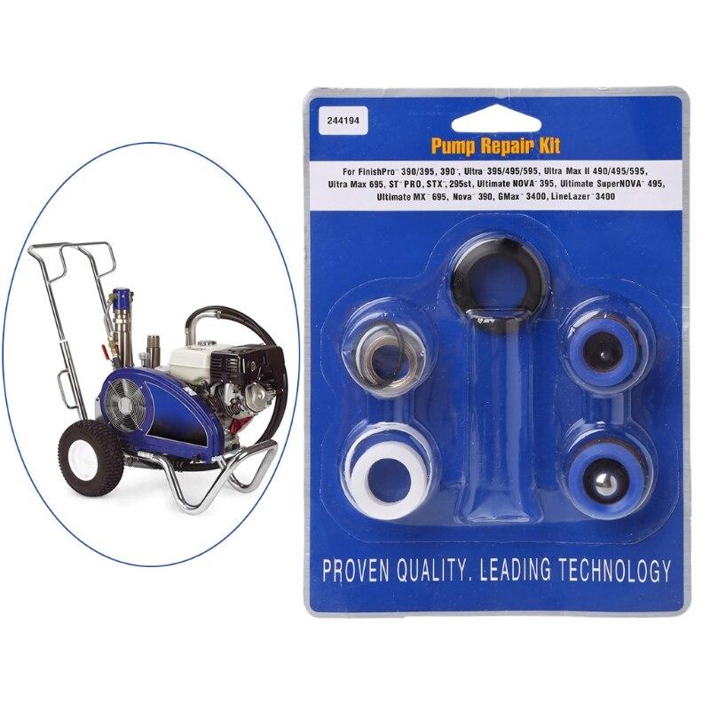 Pump Repair Packing Kit 244194 Fit For Sprayer 390 395 490 495 595 Spray Gun Tool