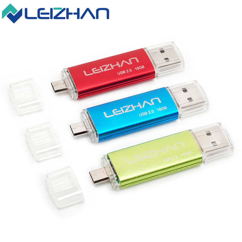 LEIZHAN OTG USB Flash Drive Pendrive 64gb 32gb 16gb 8gb 4gb Pen Drive 2.0 USB Stick Smart Phone and Computer Dual Mobile U Disk leizhan usb flash drive musical instrument guitar 4g 8g 16g 32g pen drive memory stick usb flash card pendrive 64g usb disk