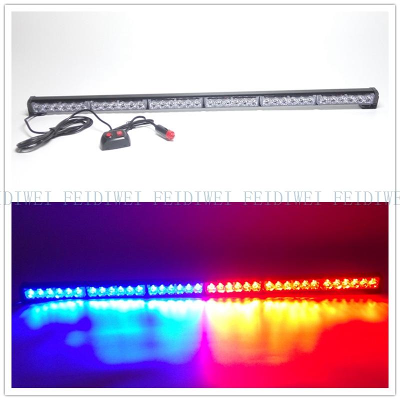 09018 36LED 7 Flashing Mode Emergency Warning Traffic Advisor Vehicle Strobe LED Light Bar-Amber for all 12V Vehicles