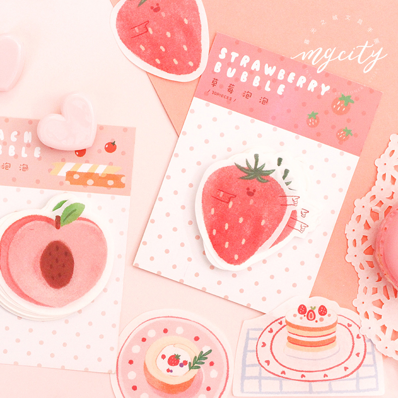 Cream Cake Food Memo Pad Planner Sticky Note Paper Sticker Kawaii Stationery Pepalaria Office School Supplies 30 Pages