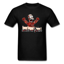 Bart Attack On Titan T-Shirts Tokyo Anime Jurassic Park Funny Tshirt Hunter Monster Witchcraft T Shirt Men Easter