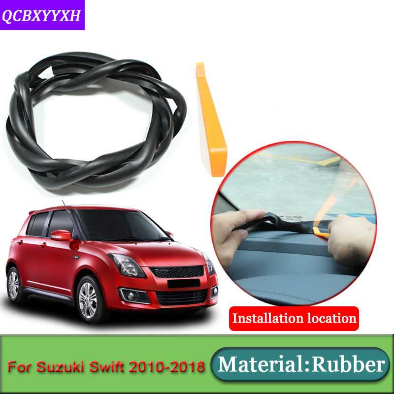 Car-styling For Suzuki Swift 2010-2018 Anti-Noise Soundproof Dustproof Car Dashboard Windshield Sealing Strips Auto Accessories