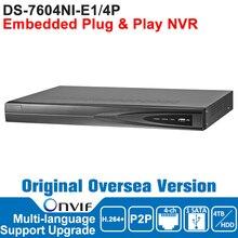 Hik NVR IP Digicam Community Video Recorder DS-7604NI-E1/4P ONVIF Surveillance Video Recorder NVR POE 4CH English Model