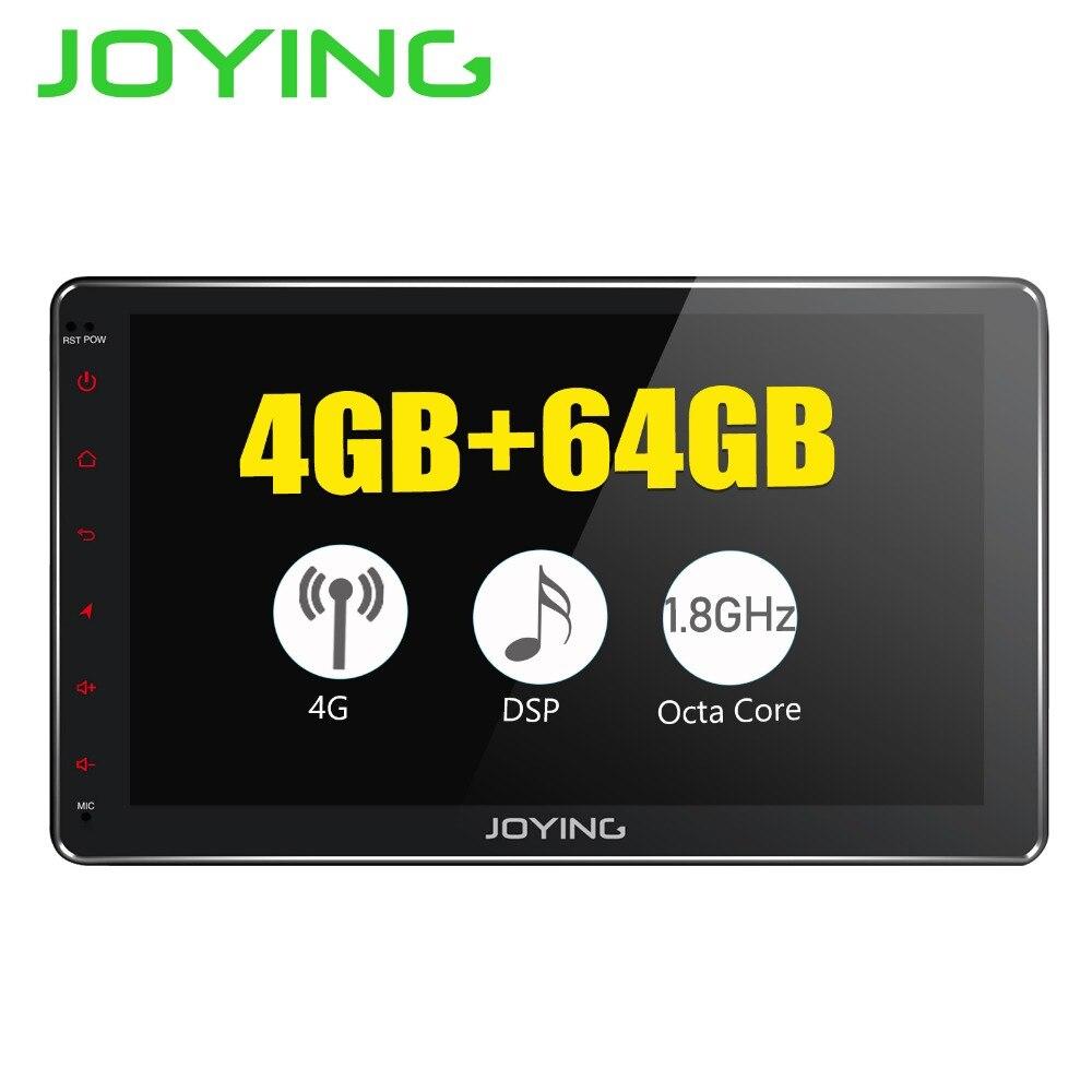 JOYING Android 8 1 2 din car radio octa Core 4GB 64GB IPS Screen built in