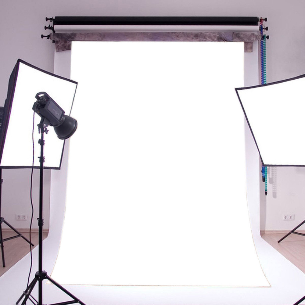 LB Solid Color White Backdrop Seamless Washable No Crease Polyester Background Photography Studio Props Decor Photographic Photo