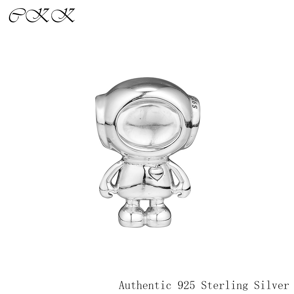 Fit Pandora Charms Bracelet 100% 925 Sterling Silver Cosmo Tommy Astronaut Charm Beads For Jewelry Making Free Shipping PF888