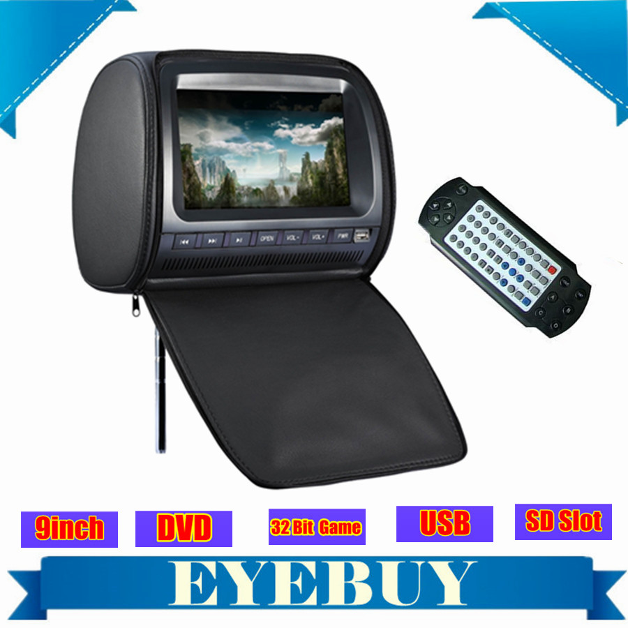 Sony Lens universal 9 inch headrest car auto headrest monitor dvd player zipper cover USB SD